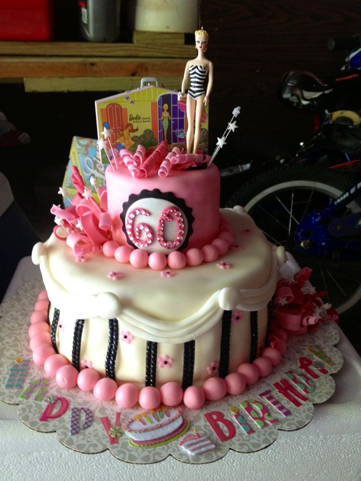 Mom 39 s 60th barbie birthday cake character cakes fun for 60th birthday cake decoration