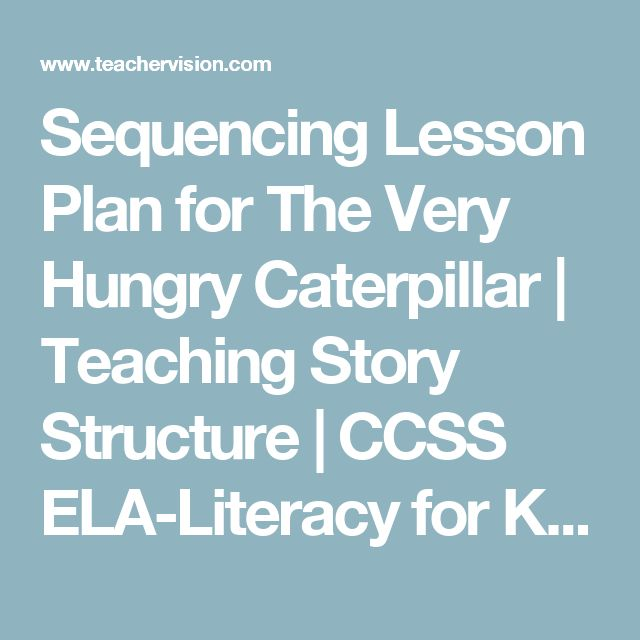 Sequencing Lesson Plan for The Very Hungry Caterpillar | Teaching Story Structure | CCSS ELA-Literacy for K-2 - TeacherVision.com