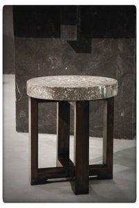 PTMD - Marble grey stool round #marmer #marmeren #marble #stool #kruk #bijzettafel #sidetable @ptmdcollection