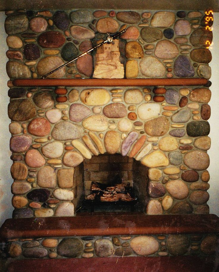 Rustic Rock Fireplaces Images