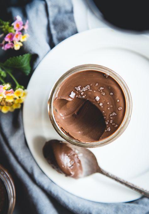 Salted Dark Chocolate Pots de Crème
