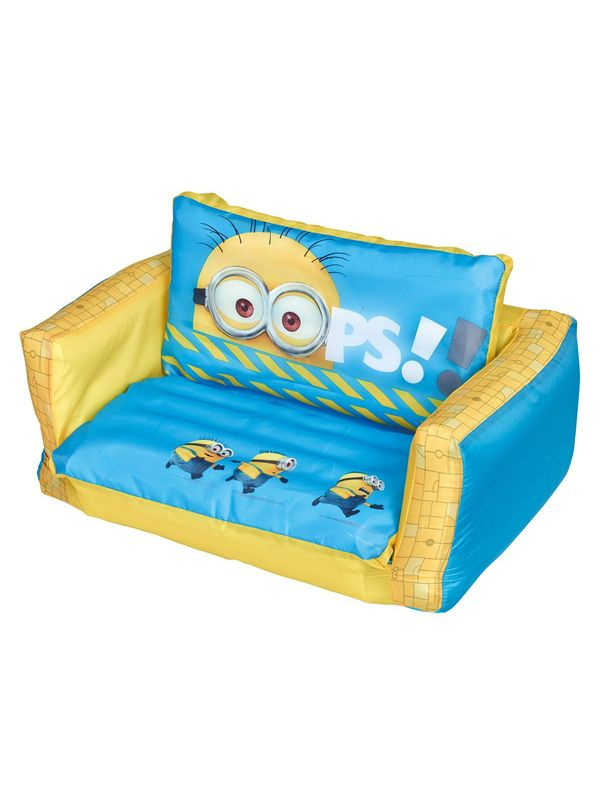 Official Despicable Me Inflatable Flip Out Sofa with Removable Cover. Matching Bedroom Accessories Available...