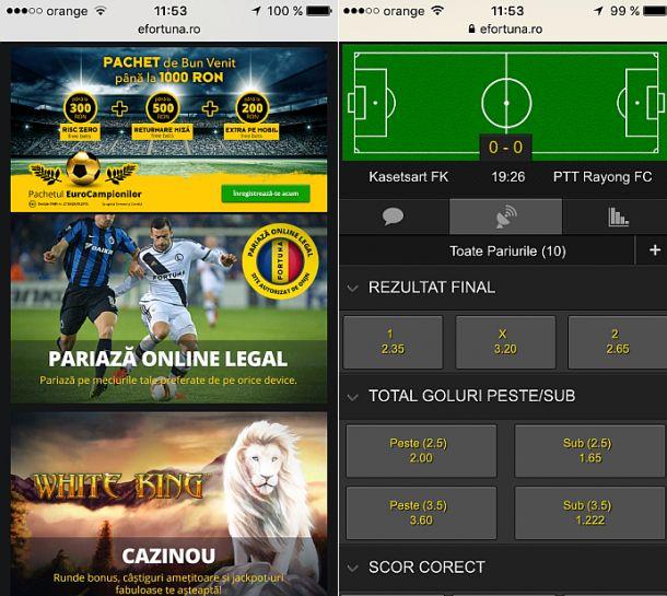 Articole Pariuri sportive pe PariuriX.com: Fortuna Bet Online - Pariază de pe mobil sau tabletă