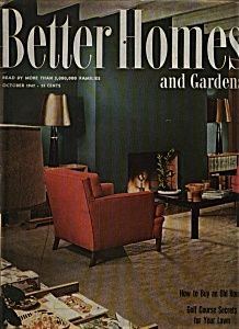 October 1947 issue of Better Homes & Gardens. Gorgeous then AND now!