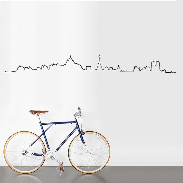 Paris Skyline sticker by Antoine Tesquier Tedeschi for Hu2 Design by Hu2 Design & Art, via Flickr