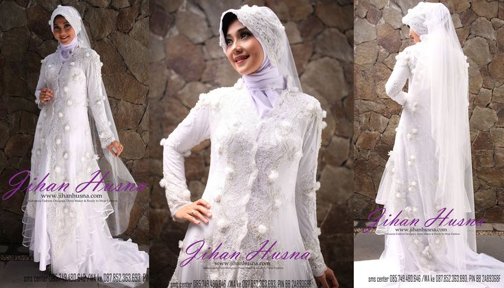Wedding Dress Muslimah Kebaya Modern Tile Putih http://jihanhusna.com