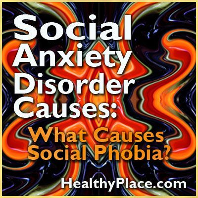 Social anxiety causes may be related humiliating experiences in childhood, whereas social phobia causes may be genetic, chemical and brain structure related.