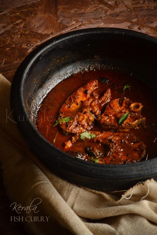 Kerala style red fish curry