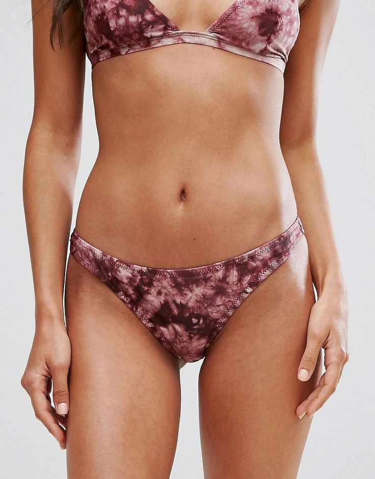Pull&Bear Tie Dye Bikini Bottoms - Red