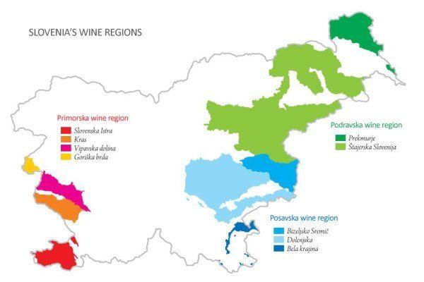 Wine growing regions of Slovenia