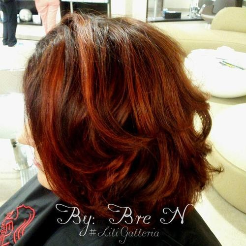 """Ever find yourself thinking, """"I need to do something new with my hair?""""… here's how Bre at Lili Galleria solved that dillemma for one of us :)"""