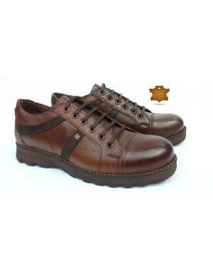 Deri Bağcıklı Günlük Ayakkabı Kahverengi BK823517 Fiyat Kalite Ürünü Koçsan Ayakkabı  #deri #erkekgiyim #ayakkabı #moda #kombi