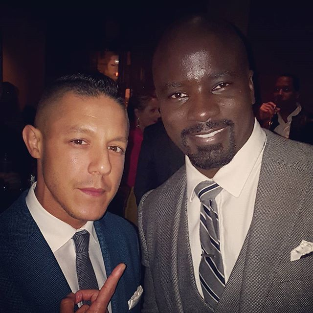 Theo Rossi aka SHADES with, Mike Colter aka LUKE CAGE. Luke Cage Premiere After Party. NETFLIX