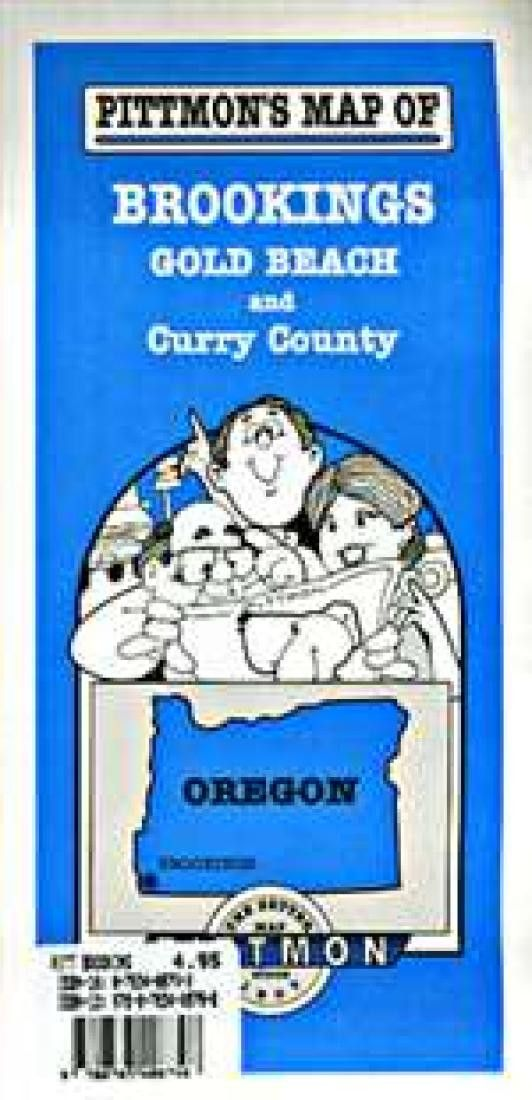 Brookings, Gold Beach and Curry County, Oregon by Pittmon Map Company