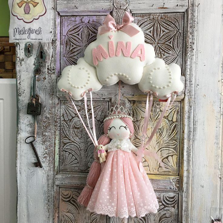 Baby giftdefine baby girl little girl Babyshower princess kapı susu, Bebek kapı süsü