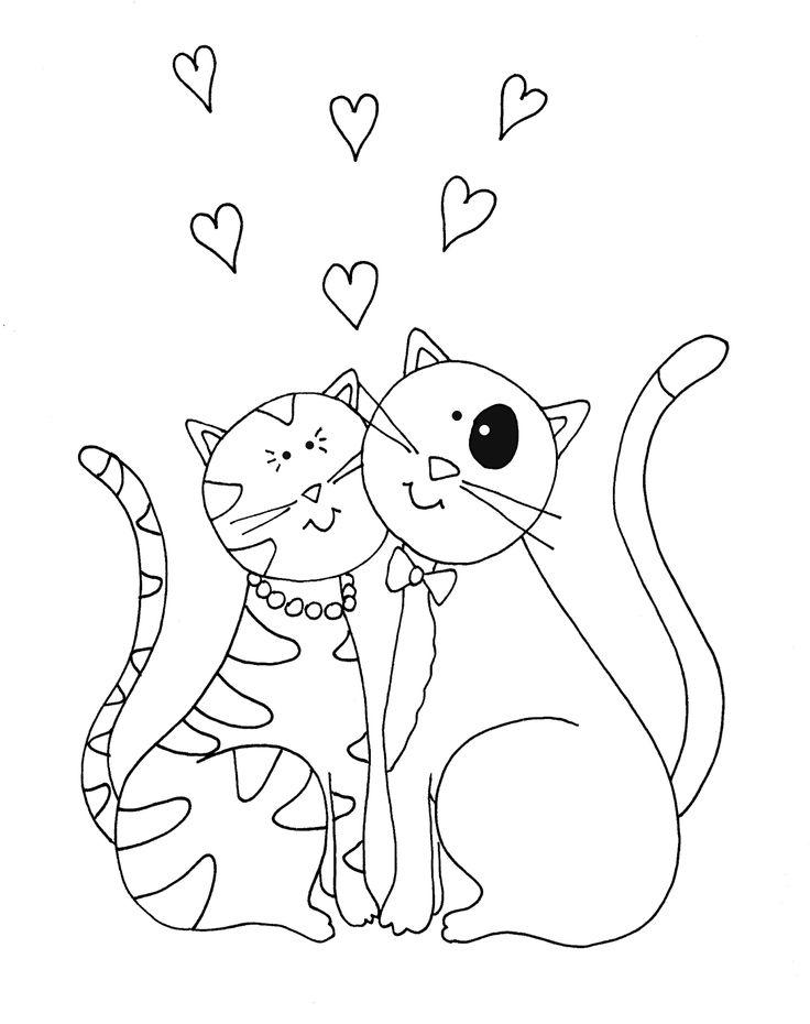 Free Dearie Dolls Digi Stamps: Valentine Cats