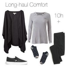 """""""Travel outfit: Long-haul flights"""" by blogfashionpas ❤ liked on Polyvore featuring Madewell, monochrome, comfort, travel, minimal and longhaul"""