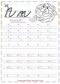 Worksheets Cursive N 25 best ideas about cursive n on pinterest capital j printable handwriting tracing worksheets letter for nest fpr preschool