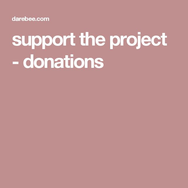 support the project - donations
