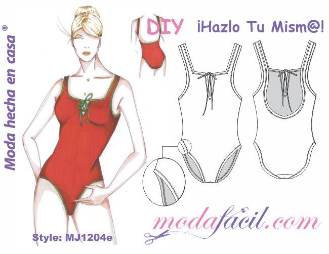 Moldes de bañador Pamela Anderson