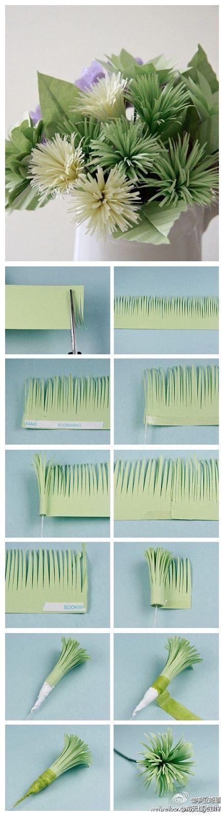 Homemade paper flowers