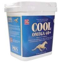 COOL OMEGA 40+, Size: 20 POUND (Catalog Category: Equine Supplements:SUPPLEMENTS) by MSC. $79.56. Keep your horse s energy cool and focused. A unique blend of fat and all natural proteins for today s active horse. Pelleted coat conditioners for improving body condition and performance, high in omega 3 & 6 fatty acids. Feed 2 to 4 ounces per day.Ingredients: Vegetable Fat 40% Rice Bran Flaxseed Wheat Middling s Soybean Meal.(Size: 20 POUND)