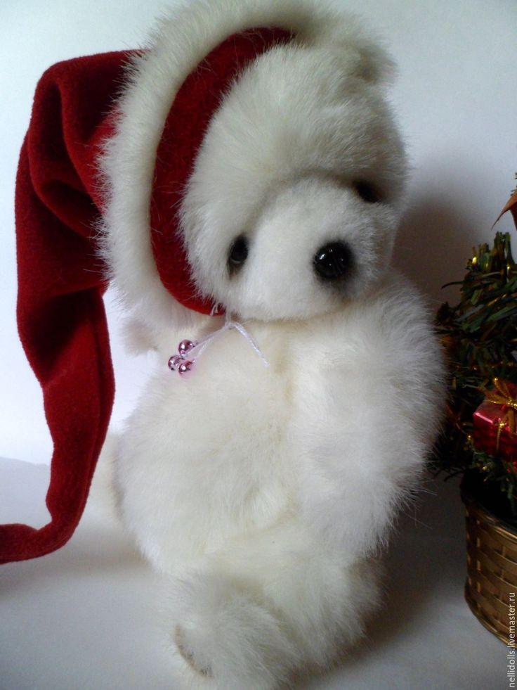 Купить Белый Мишка,26 см - белый, подарок на новый год, подарок, подарок на любой случай