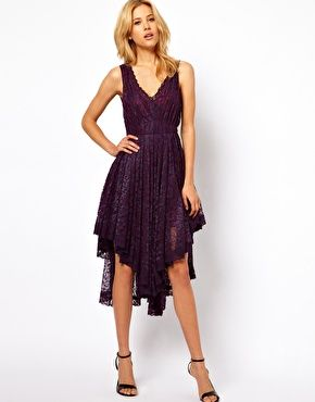 Enlarge ASOS Lace Dress With Gathered Waist