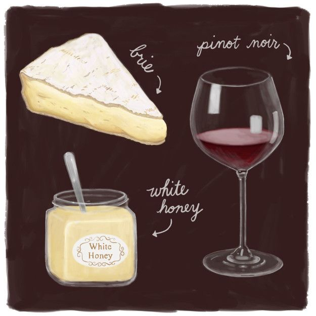 Brie, White Honey, and Pinot Noir | 10 Cheese Pairings That Will Make Your Mouth Water For Days