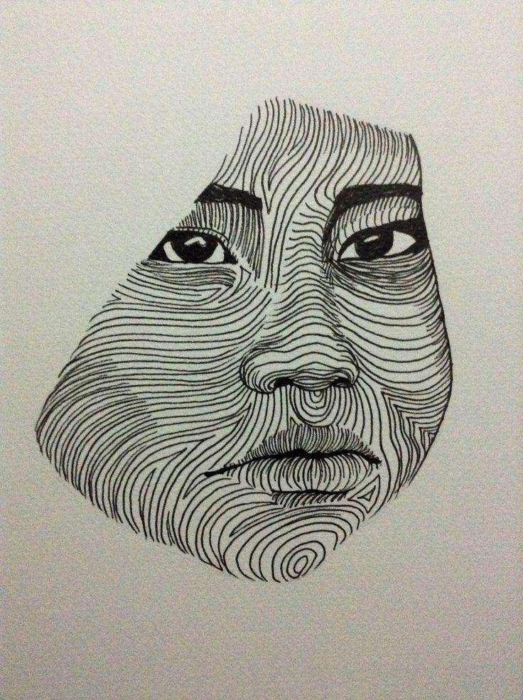47: Fingerprint. Line drawing