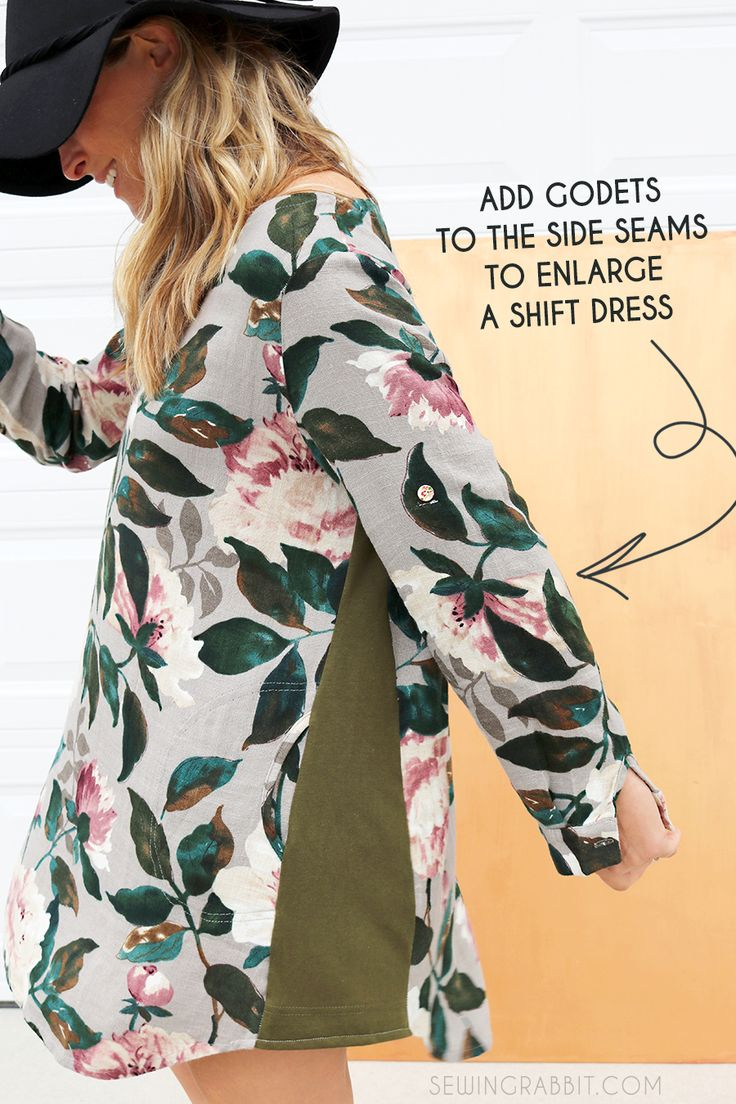 how to make a dress bigger with godets! So simple and also a great decorative element!