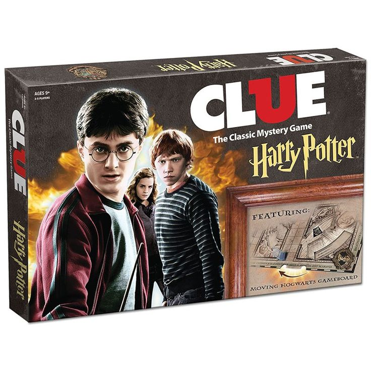 CLUE®: Harry Potter™ A fellow student has seemingly vanished from the famous School of Witchcraft and Wizardry - and it is up to you to solve the mysterious disappearance. Playing as Harry, Ron, Hermione, Ginny, Luna or Neville, you must try and discover WHO did it, WHAT spell or item they used and WHERE the student was attacked. Move around Hogwarts making suggestions...but watch out! Wheels on the board will keep changing revealing secret passages, moving staircases or even the ...