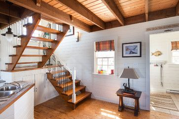 My Houzz: Rustic Summer Home in Heritage Community Trinity - beach style - staircase - other metro - Becki Peckham