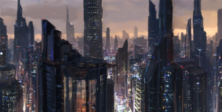 The artist merl1ncz on deviantART shows us his interpretation of Japan in 2070, where tall buildings tear up the skyline with their jagged forms.