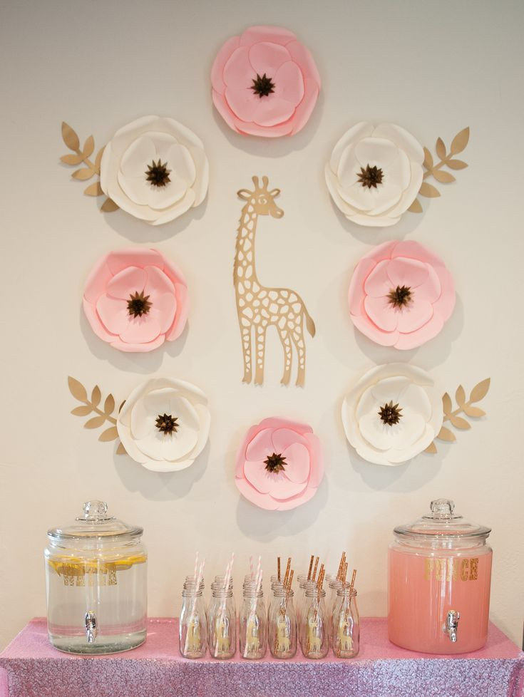2b553b820 Pink and Gold Giraffe theme | Girls Birthday Party Planning in 2019 ...