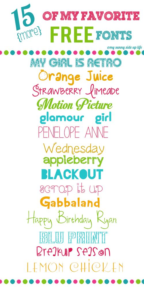 Many of these fonts are great for the lower grades. They are cute and have straight lines and closed circles.