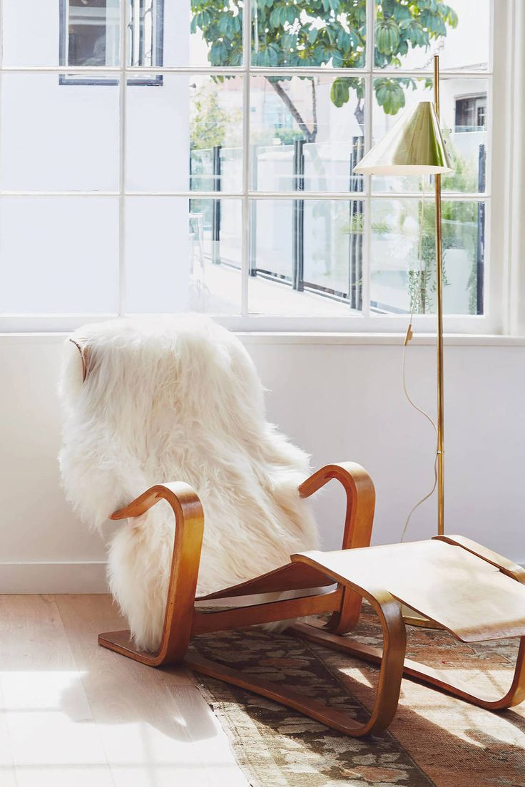 "Architect Bryce Gracey discovered Icelandic sheepskins while attempting to source a sheepskin for an interior design project. ""I was attracted to these eclectic pelts and their large scale,"" he says. ""I really enjoy getting up each morning with one under my feet and thought others would, too."" This authentic Icelandic sheepskin, in tones of snow white, cream, and beige, makes for an exceptionally cozy throw, rug, or bed covering."