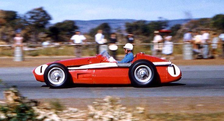 Stan Jones, Maser 250F, AGP Caversham 1957. (David Van Dal)...