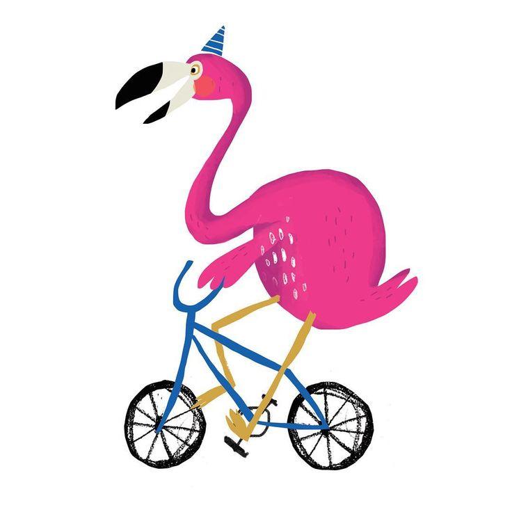 "46 Likes, 1 Comments - Alex Willmore (@alexander_willmore) on Instagram: ""Flamingo riding solo #alexwillmore #illustration #drawing #art #artwork #flamingo #bike #bmx…"""