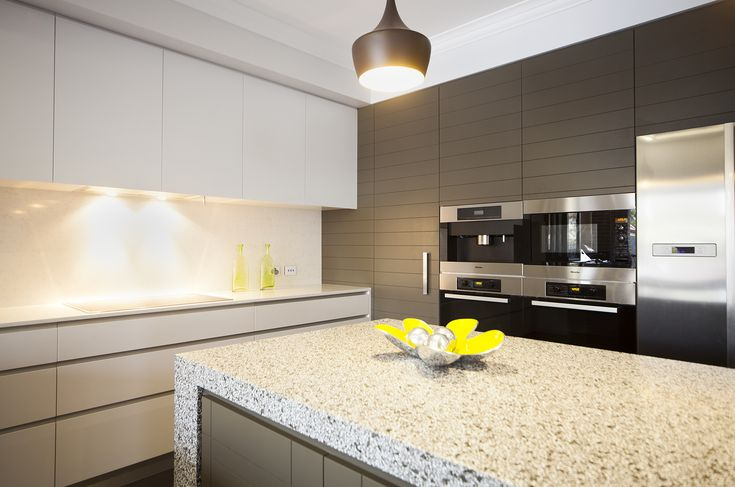 Stunning! Modern kitchens with shark nose finger pulls are show stoppers!