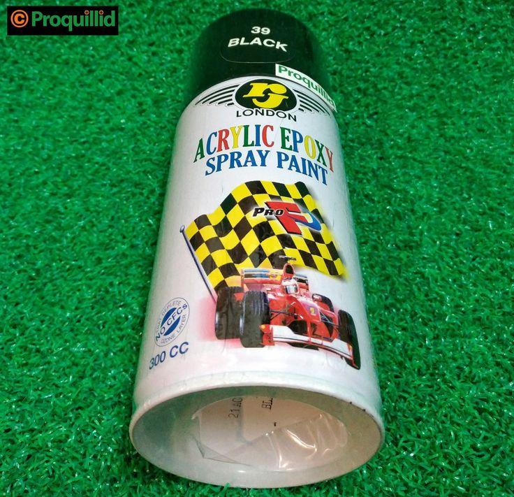 rj LONDON Acrylic Epoxy Spray Paint 39 Black - Proquillid