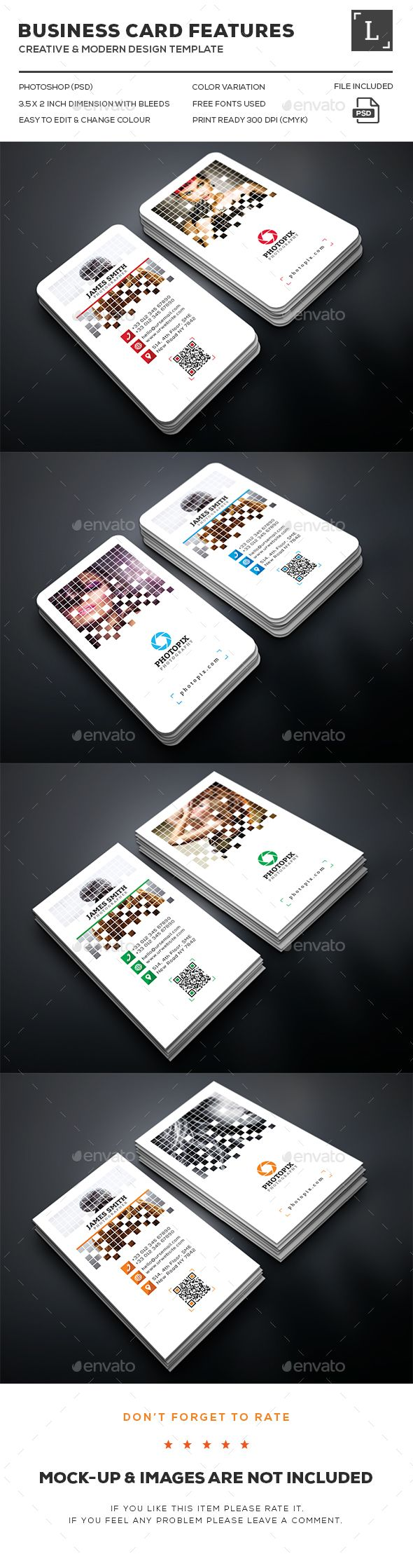 Pixel Photography Business Card Template PSD. Download here: http://graphicriver.net/item/pixel-photography-business-card/15997020?ref=ksioks