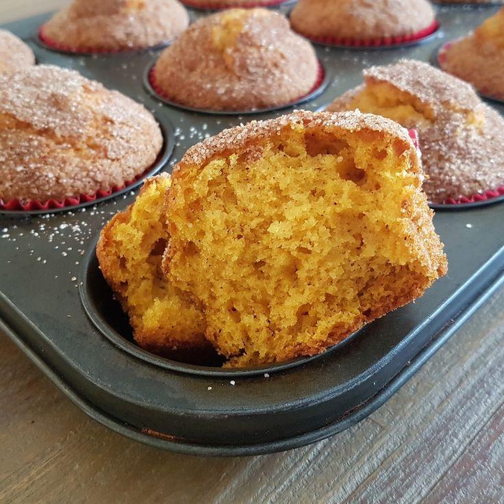Happies: Pampoen muffins met kaneelsuiker