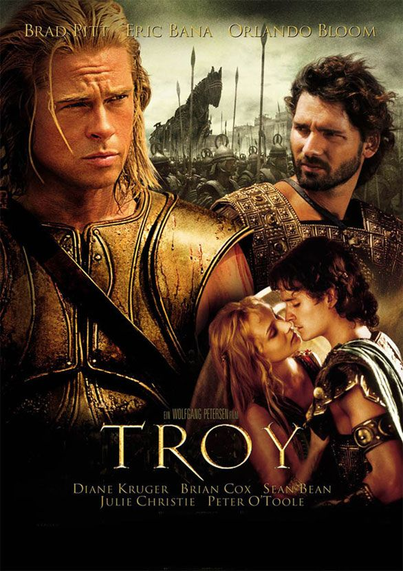 Troy- An adaptation of Homer's great epic, the film follows the assault on Troy by the united Greek forces and chronicles the fates of the men involved.(found summary on IMDB) This is truly a great film!