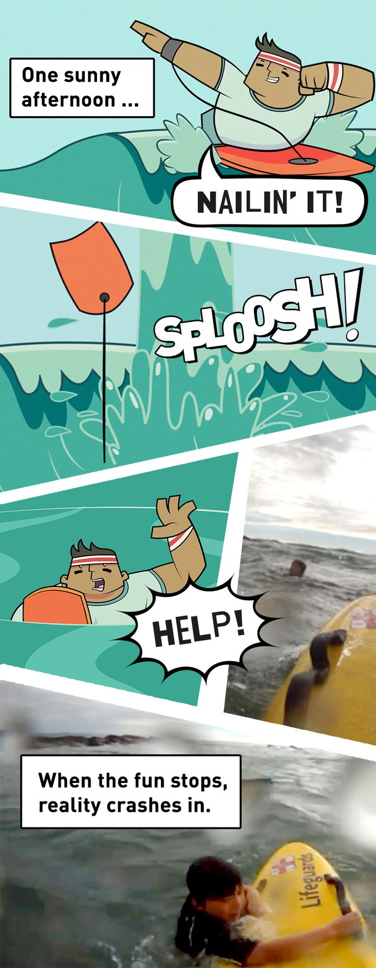 Would your kids know what to do if they were dragged out to sea? Keep your family safe with our animated safety guide download today at BeachSmart.org.uk