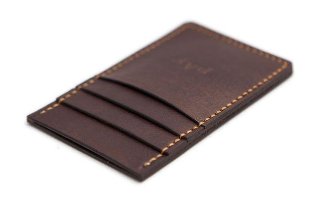 Slim Leather Front Pocket Wallet