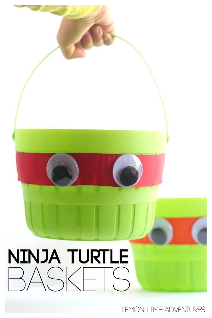 Simple Ninja Turtle Baskets