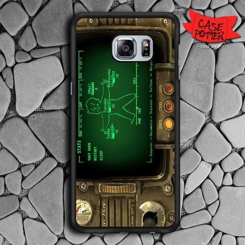 Fallout Pipboy Rainmeter Samsung Galaxy S6 Edge Plus Black Case