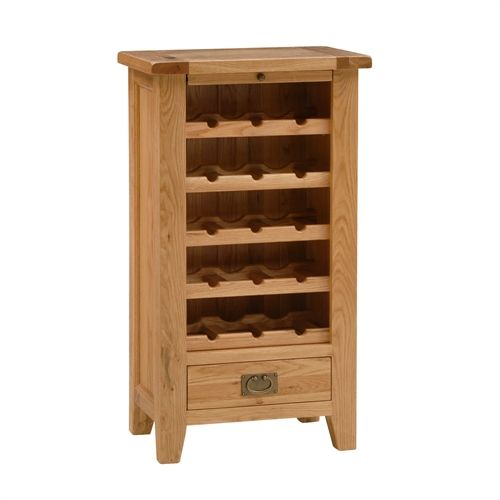 Montague Oak Wine Rack Cabinet (M596) with Free Delivery | The Cotswold Company