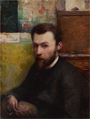 Portrait of Georges Seurat - Charles Maurin